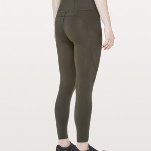 Lulu olive leggings size 2